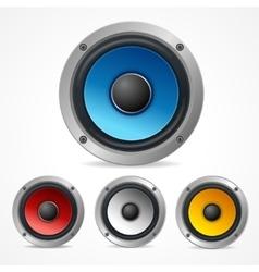 Audio Speaker Set vector image