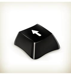 Black button vector image vector image