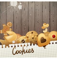 cookies background vector image vector image
