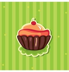 cute retro cupcake vector image