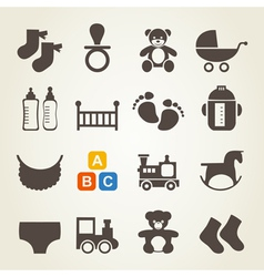 Icons a family vector image