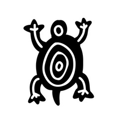turtle icon aztec vector image