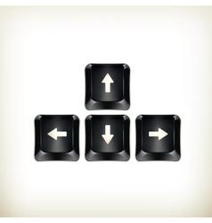 Black keyboard vector image vector image
