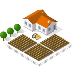 Houses and gardens vector image