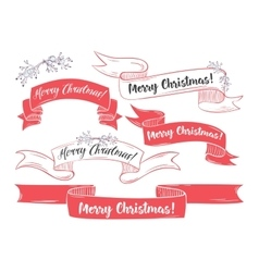 Merry Christmas and happy holidays vector image