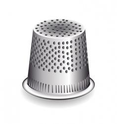 metal thimble vector image vector image