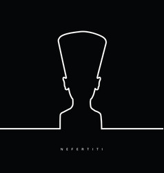 nefertiti face beauty in black and white color vector image