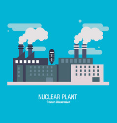 nuclear plant power industry icon graphic vector image