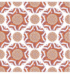 ornamental arabic pattern autumn background for vector image
