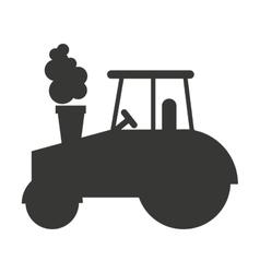 tractor farm isolated icon design vector image