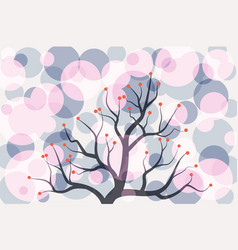 abstract colorful circle tree vintage pattern vector image