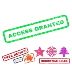 Access Granted Rubber Stamp vector image
