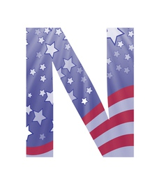 american letter N vector image