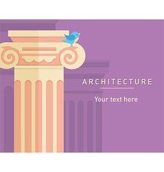 ancient architecture tall columns vector image