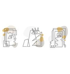 art line signes vector image