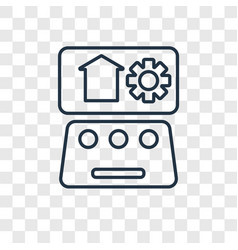 Automation concept linear icon isolated on vector