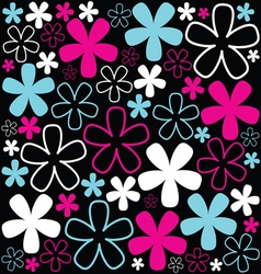 background with sweet flowers vector image