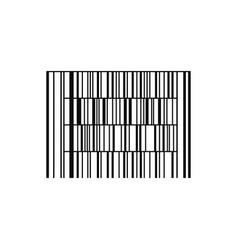 barcode or code isolated on a background vector image