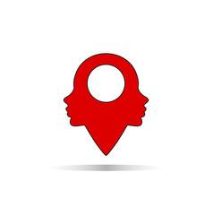 beauty care location logo icon vector image
