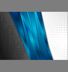 black and grey contrast background with blue vector image