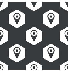 Black hexagon user pointer pattern vector image