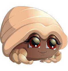 Bright crab cartoon vector