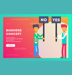 Business concept different opinions vector