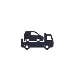 Car towing truck icon on white vector