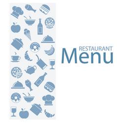 card menu restaurant vector image