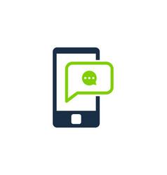 chat social network logo icon design vector image