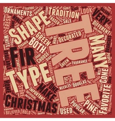 Christmas Tree Types text background wordcloud vector