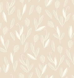 clear floral white on biege seamless pattern vector image
