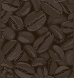 coffee beans seamless patterns vector image