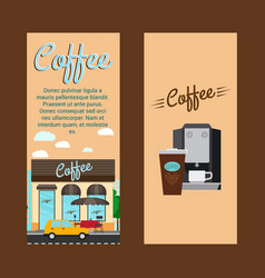 Coffee shop vertical flyers vector
