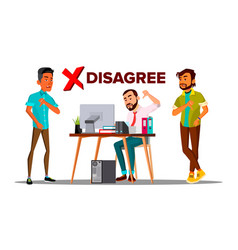 Disagree person business disagree dislike vector