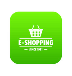 e shipping icon green vector image