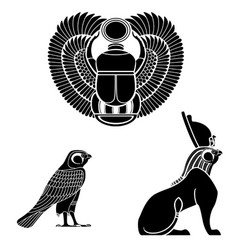 Egyptian ancient symbol vector