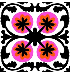 Ethnic pattern with Uzbek and Kazakh motifs vector image