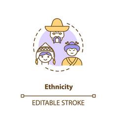 Ethnicity concept icon vector