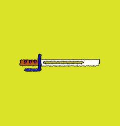 Flat shading style icon military bayonet knife vector