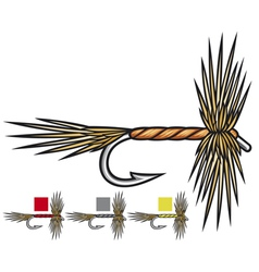 Fly fishing flies vector