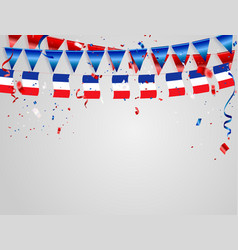 France flags celebration background template with vector