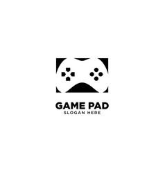 Game pad logo design vector