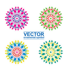 geometric logo template set vector image