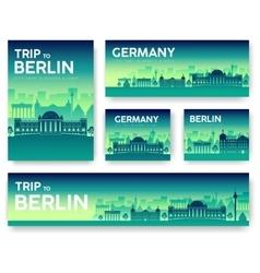 Germany landscape banners set vector image