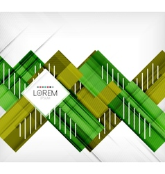 Green stylized geometrical leaves vector image