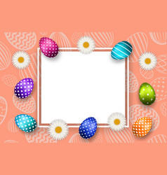 happy easter background pastel textured eggs vector image