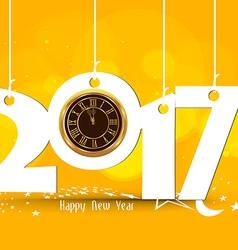 Happy new year 2017 - old clock vector