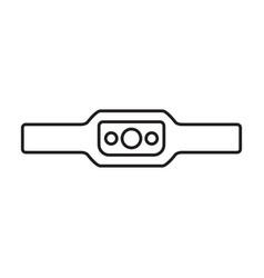 Headlamp iconoutlineline icon vector