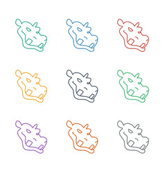 Hippopotamus icon white background vector